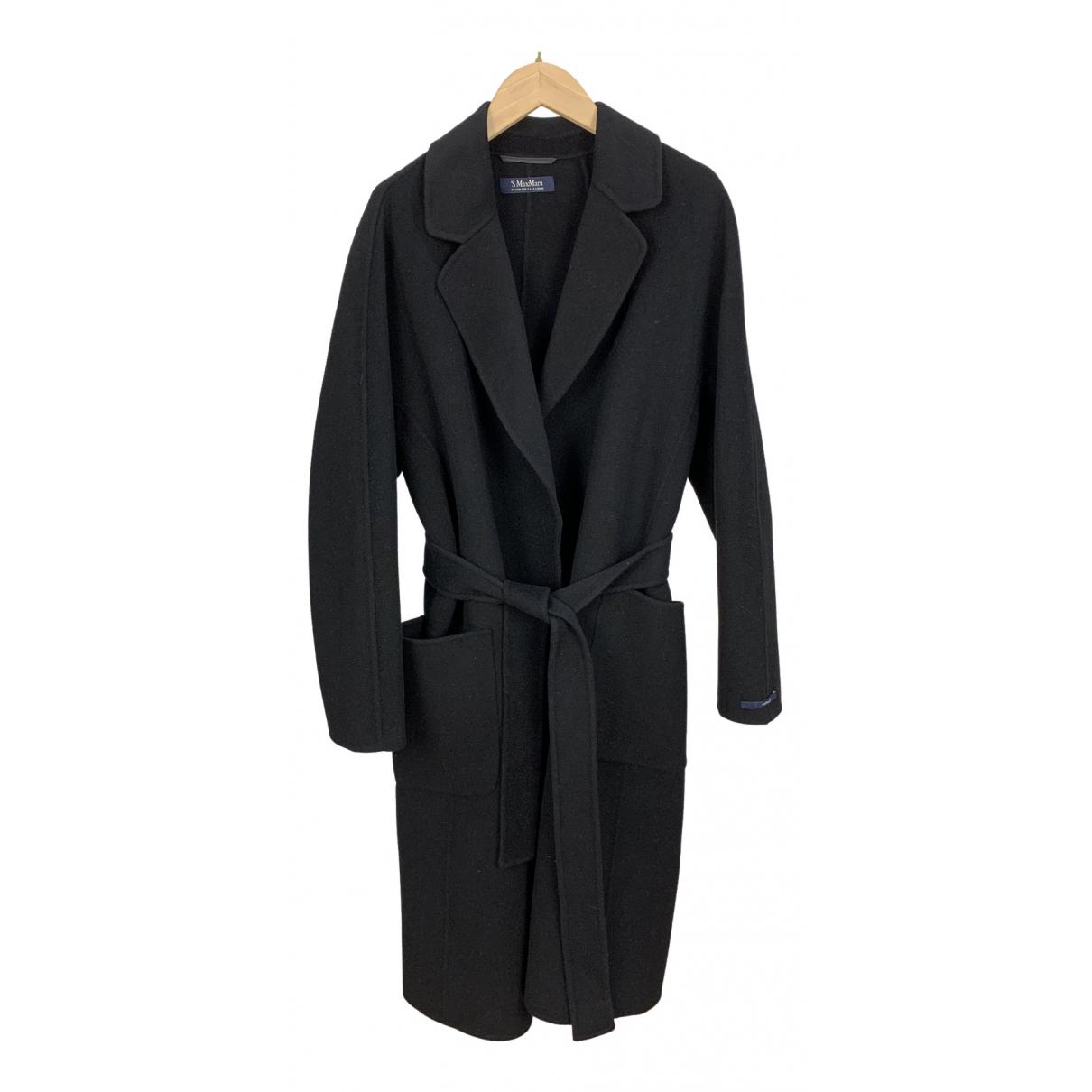 Max Mara 's \N Black Wool coat for Women 40 IT