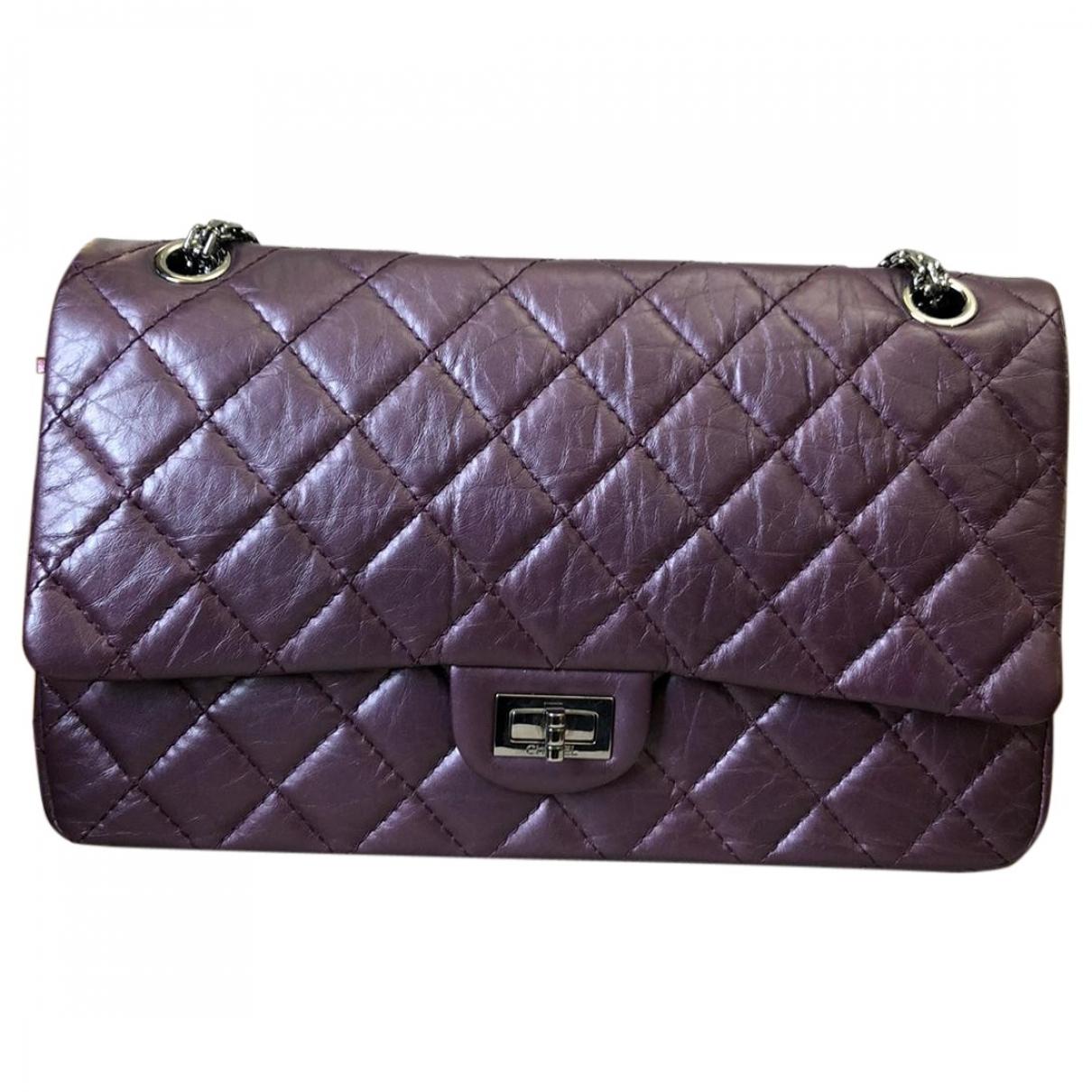 Chanel \N Handtasche in  Lila Leder