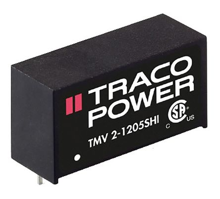 TRACOPOWER TMV 2HI 2W Isolated DC-DC Converter Through Hole, Voltage in 10.8 → 13.2 V dc, Voltage out 9V dc