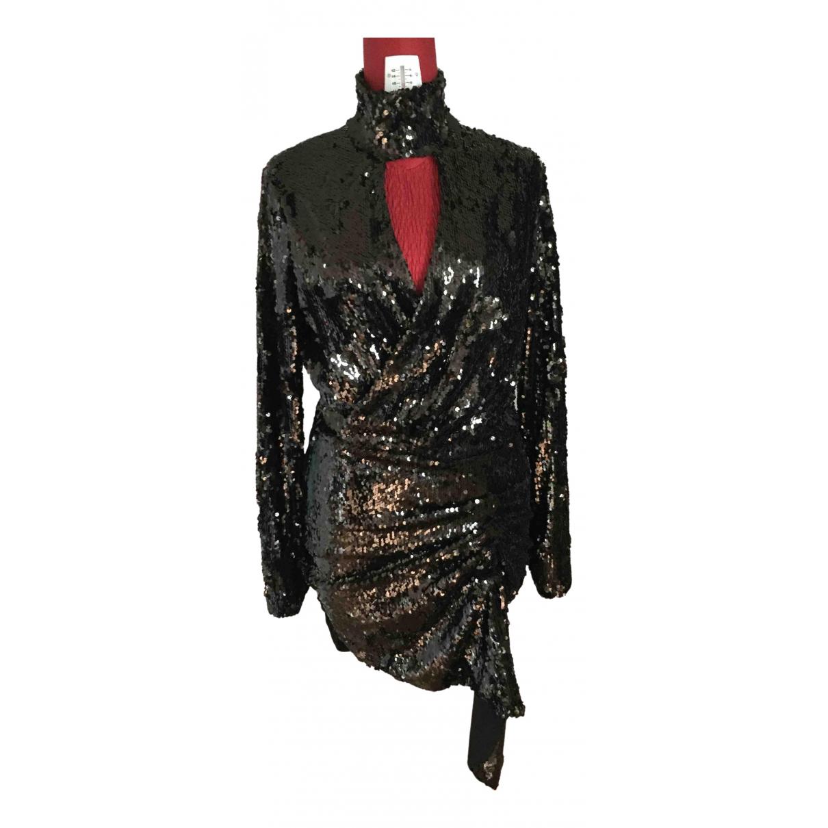 Pinko \N Kleid in  Schwarz Mit Pailletten