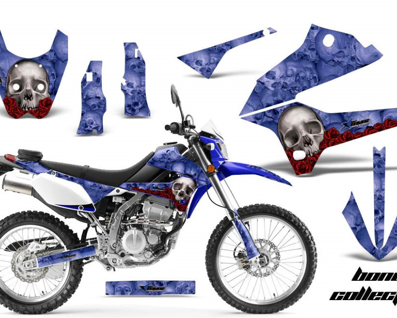 AMR Racing Dirt Bike Decals Graphics Kit Sticker Wrap For Kawasaki KLX250 2008-2018áBONES BLUE