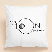 Kissenbezug mit Mond Muster ohne Fuellstoff