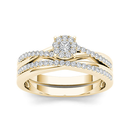 1/4 CT. T.W. Diamond 10K Yellow Gold Engagement Ring, 8 1/2 , No Color Family