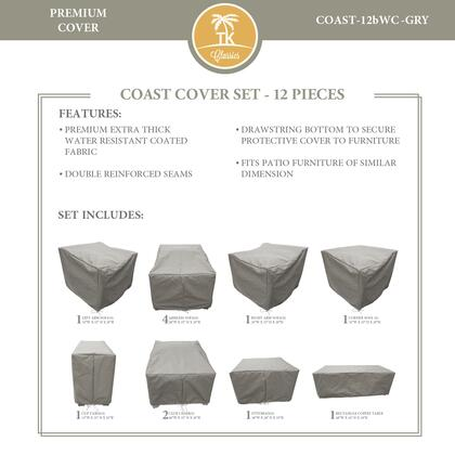 COAST-12bWC-GRY Protective Cover Set  for COAST-12b in
