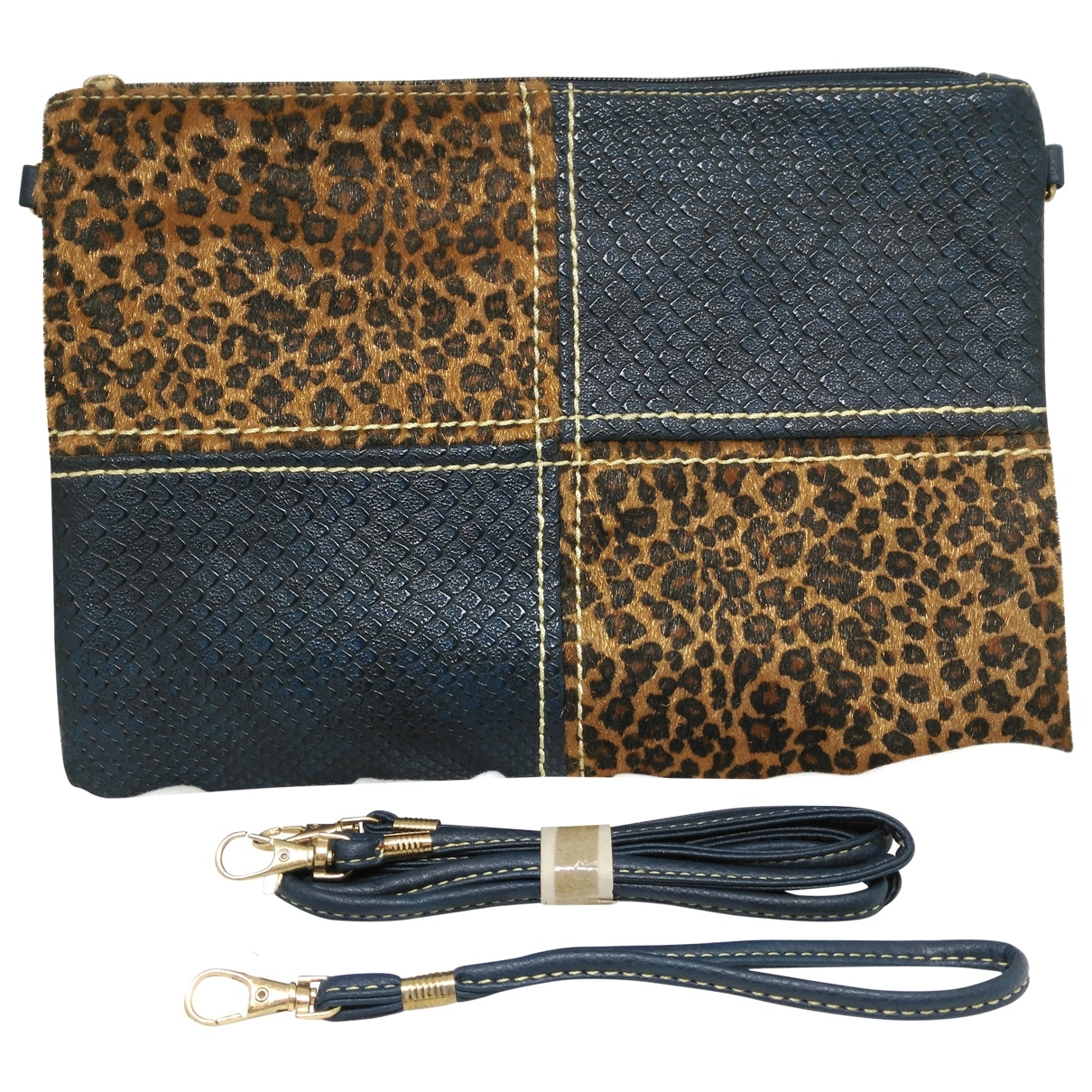Non Signe / Unsigned \N Handtasche in  Marine Synthetik