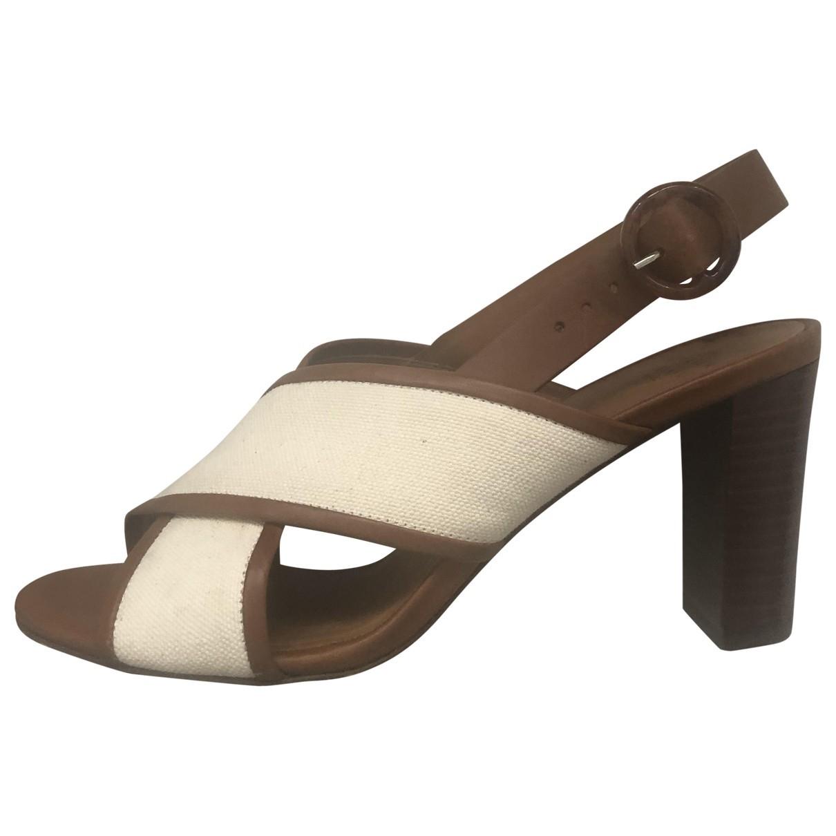 Sezane \N Sandalen in  Beige Leder