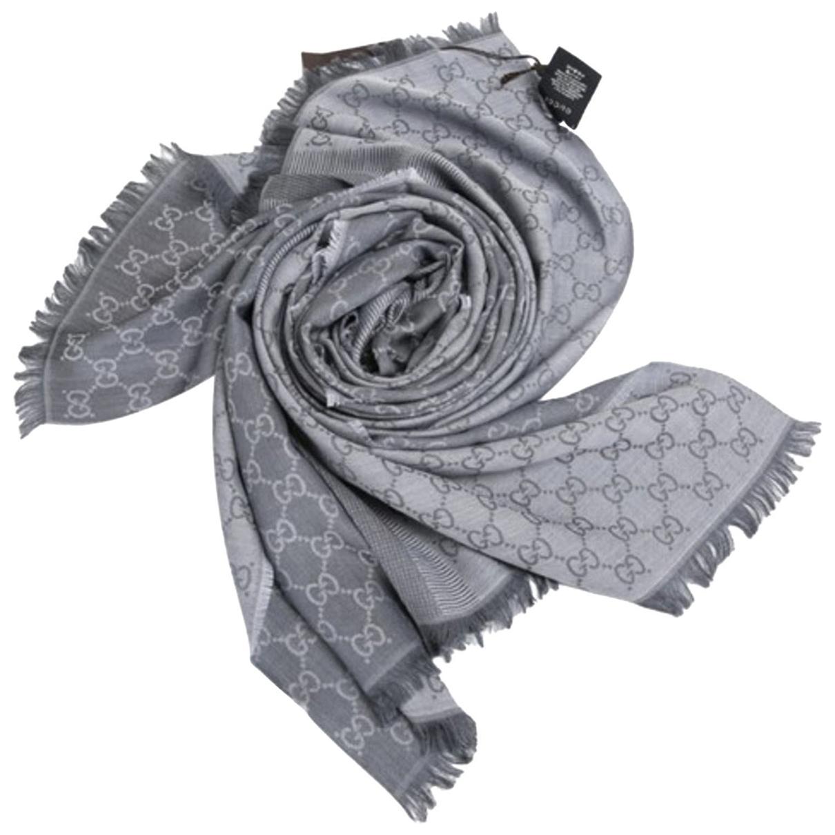 Gucci \N Schal in  Grau Wolle