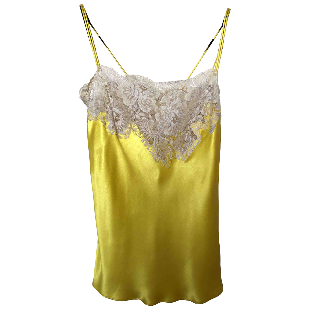 Dolce & Gabbana - Top   pour femme en soie - jaune