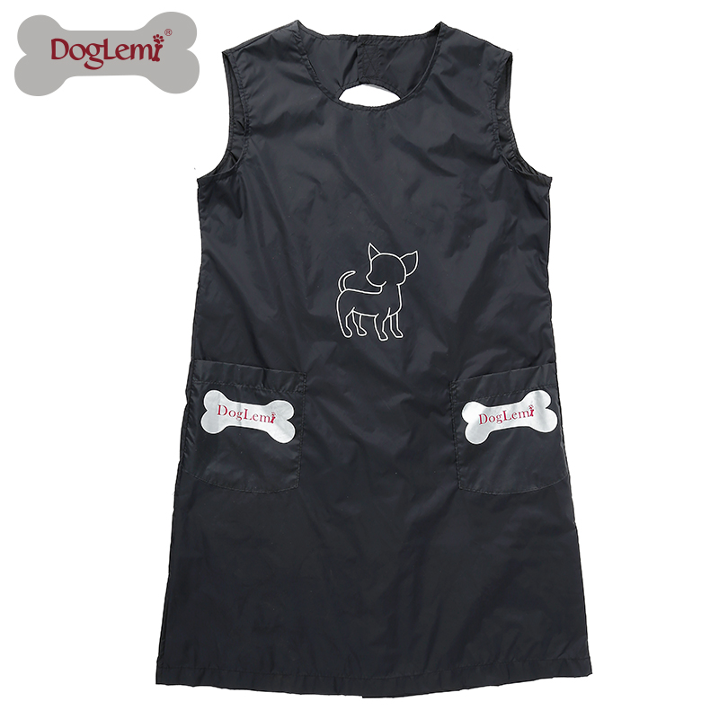 Waterproof Pet Grooming Apron with Pockets
