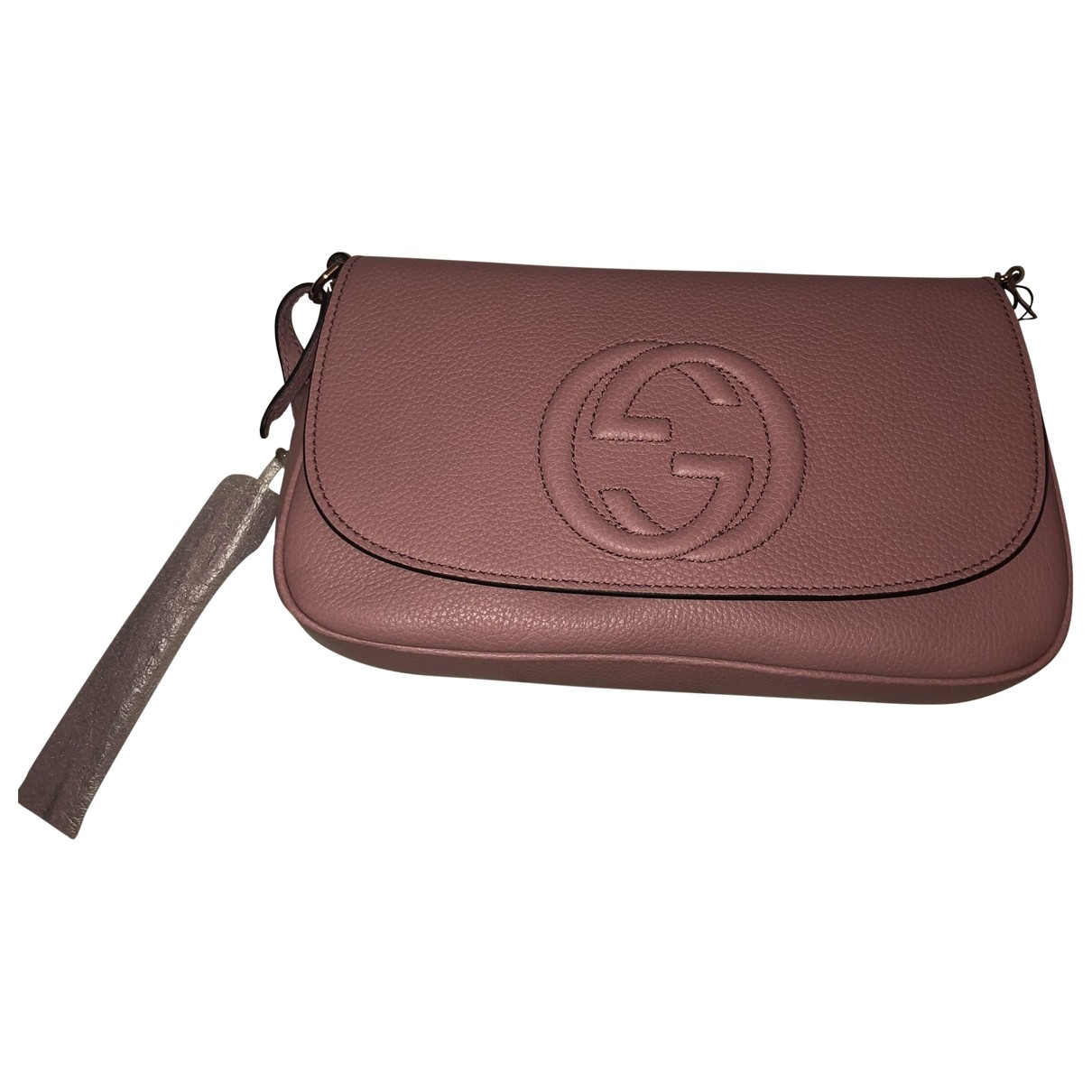 Gucci Soho Pink Leather Clutch bag for Women \N
