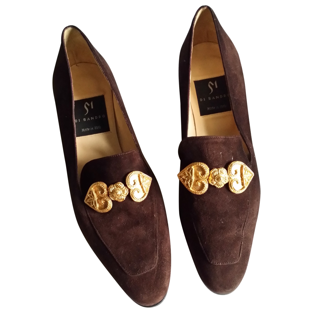 Non Signe / Unsigned \N Pumps in  Braun Veloursleder