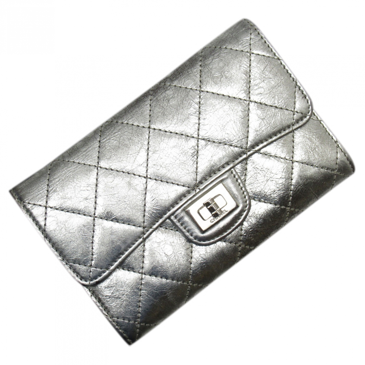 Chanel 2.55 Silver Leather wallet for Women \N
