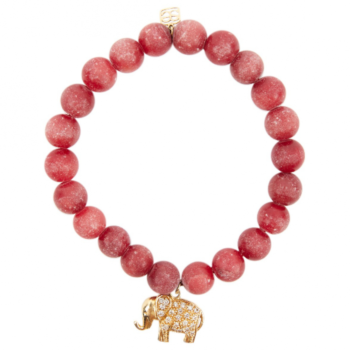 Non Signe / Unsigned Motifs Animaliers Armband in  Rot Gelbgold