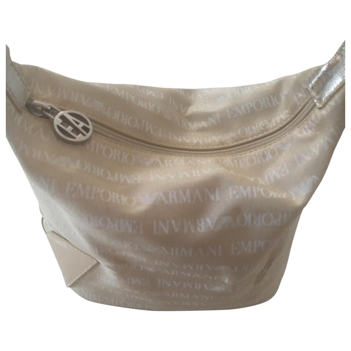 Emporio Armani \N Handtasche in  Gold Baumwolle