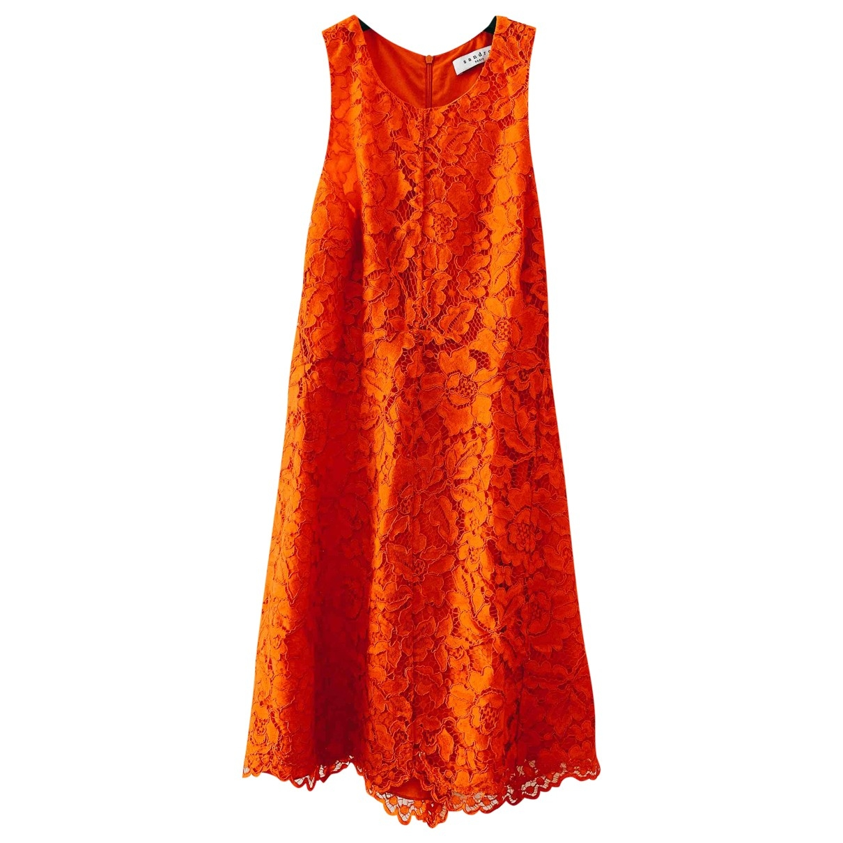 Sandro \N Kleid in  Orange Spitze