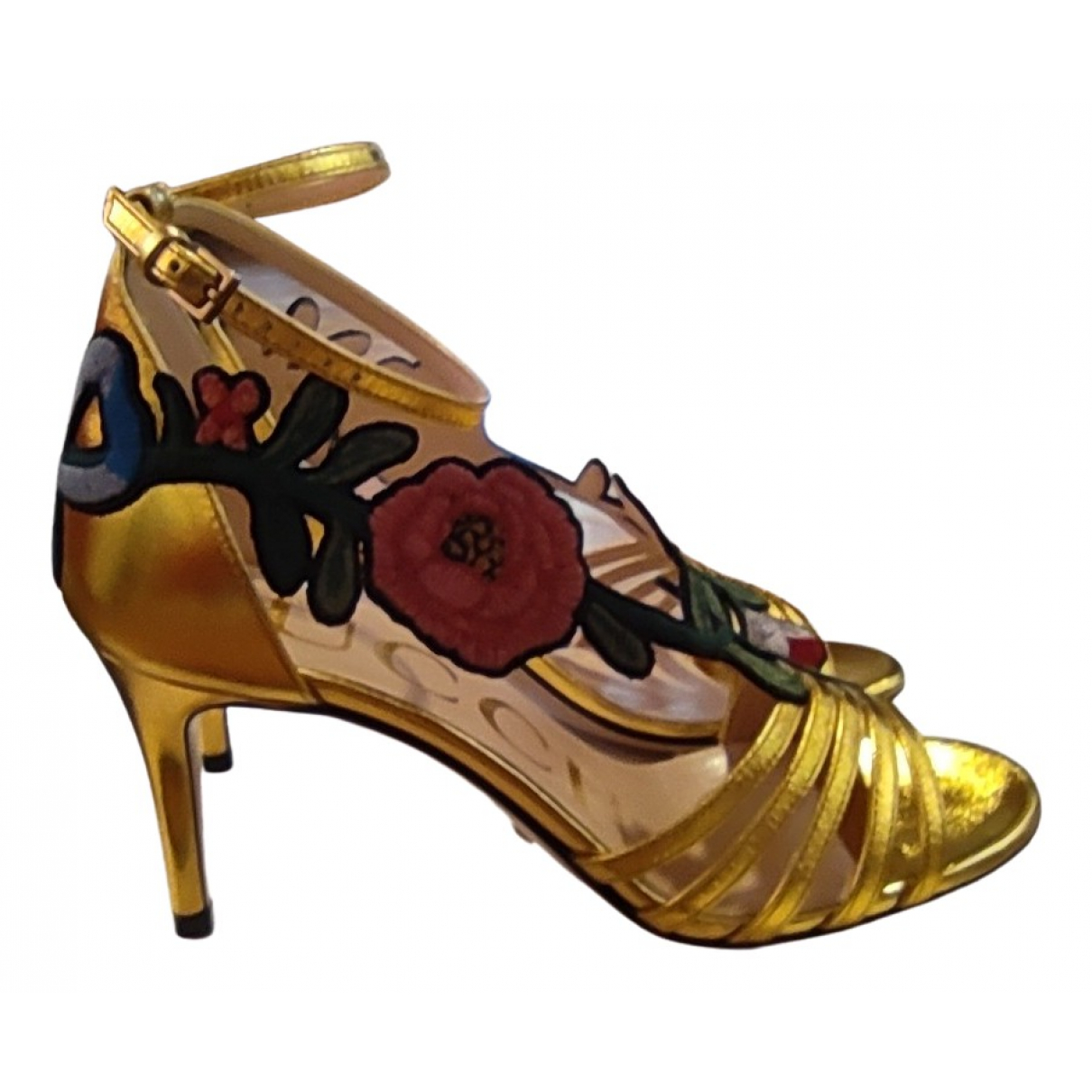 Gucci \N Gold Leather Sandals for Women 34.5 EU