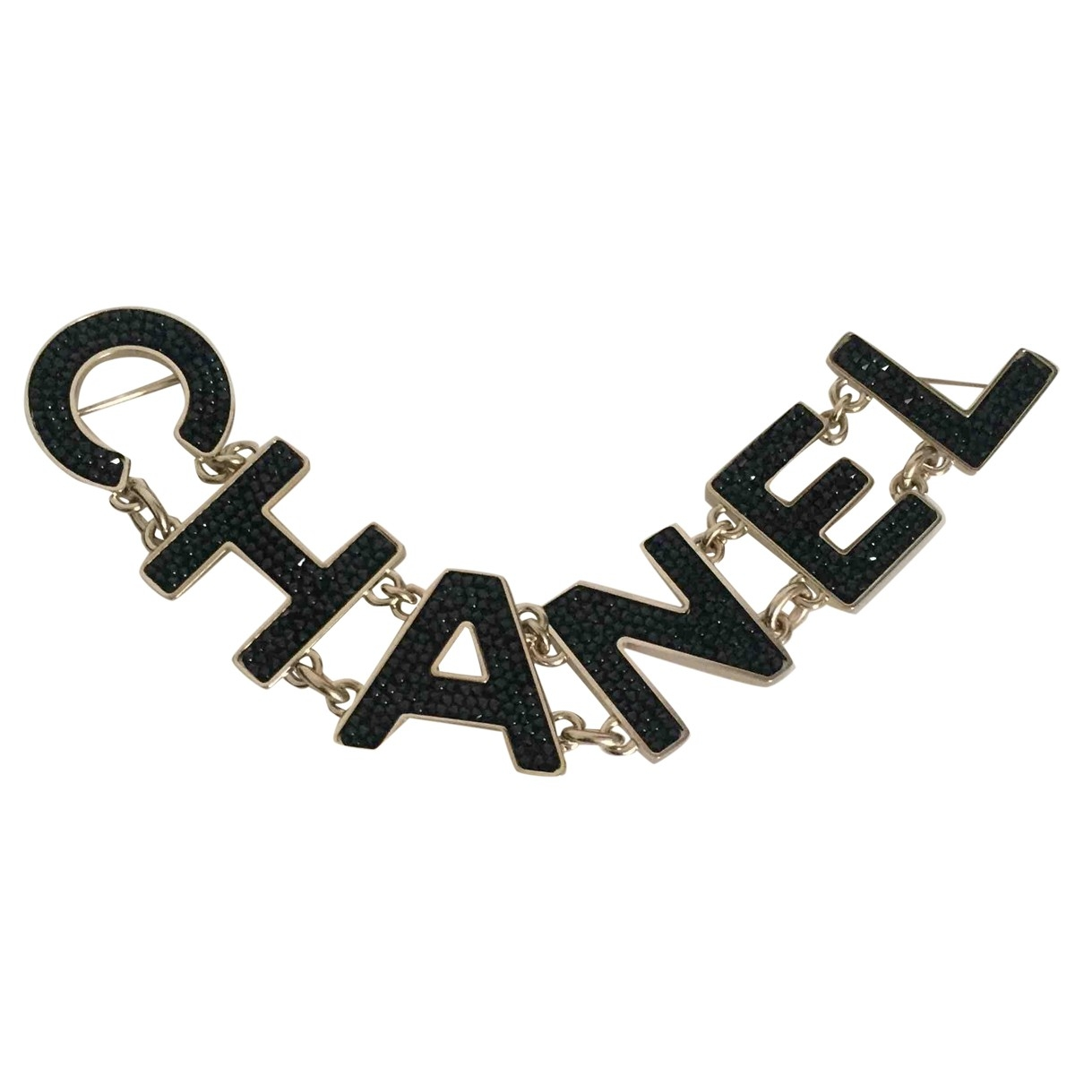 Chanel - Broche   pour femme en metal - noir