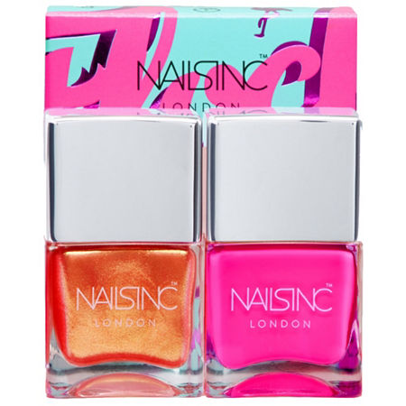 NAILS INC. Flock You Nail Polish Duo, One Size , Pink