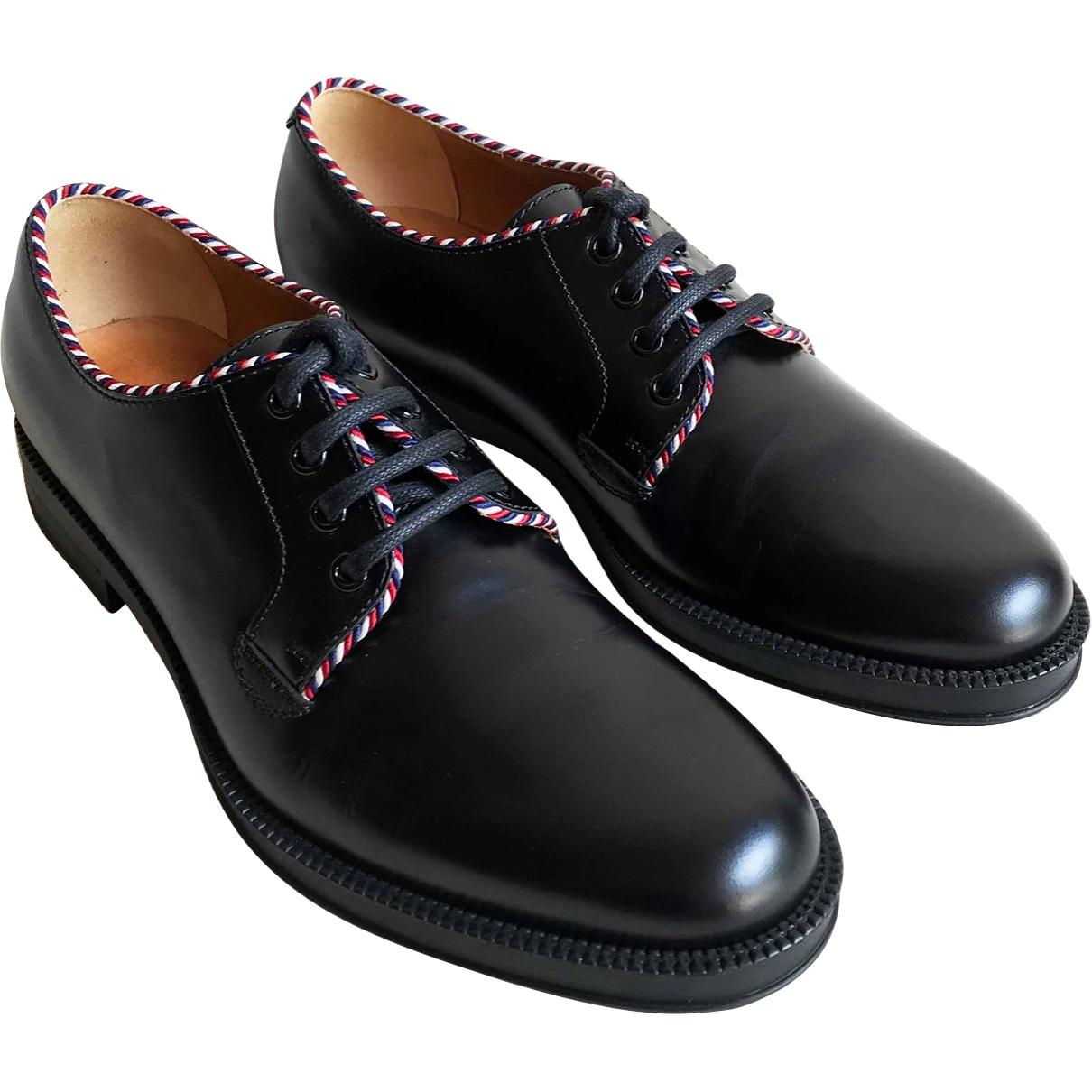 Gucci \N Black Leather Lace ups for Men 42 EU