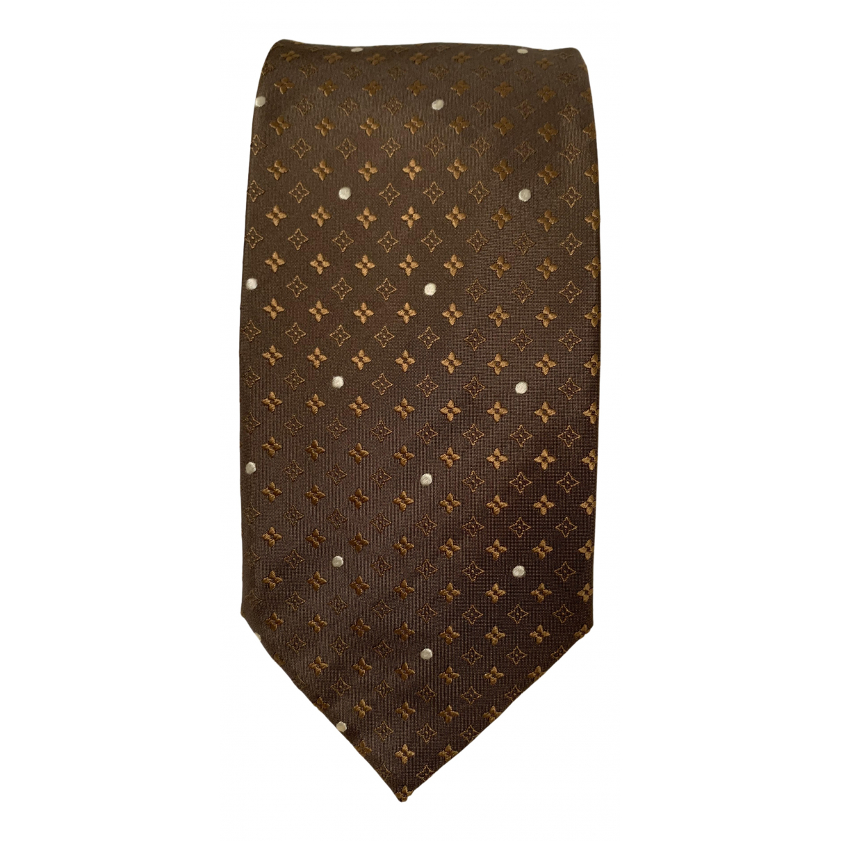 Louis Vuitton - Cravates   pour homme en soie - marron