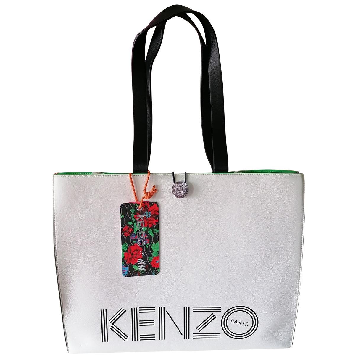 Kenzo X H&m - Sac a main   pour femme en cuir - blanc