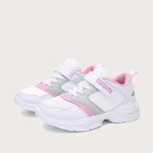 Girls Velcro Strap Wide Fit Sneakers