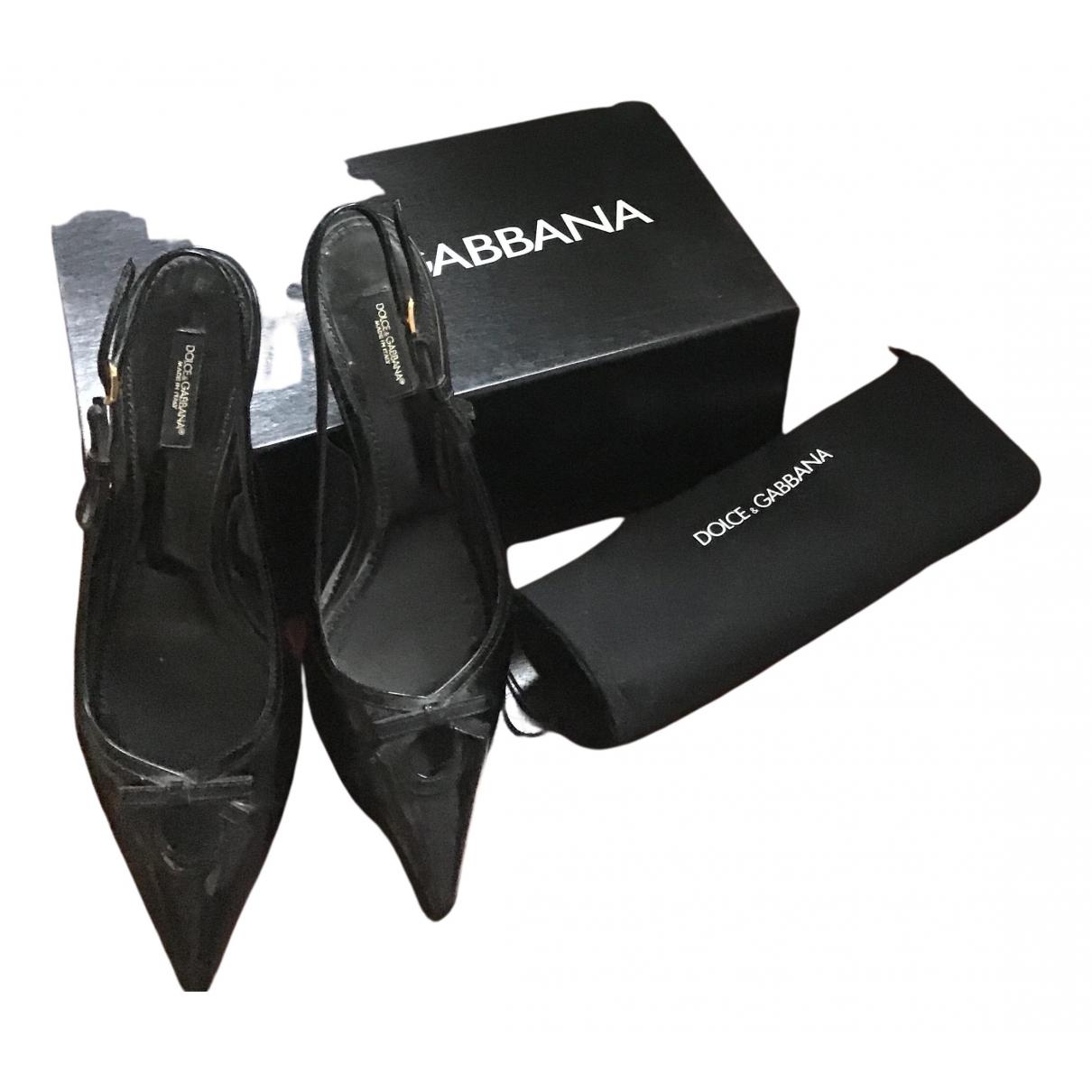 Dolce & Gabbana - Sandales   pour femme en cuir - noir