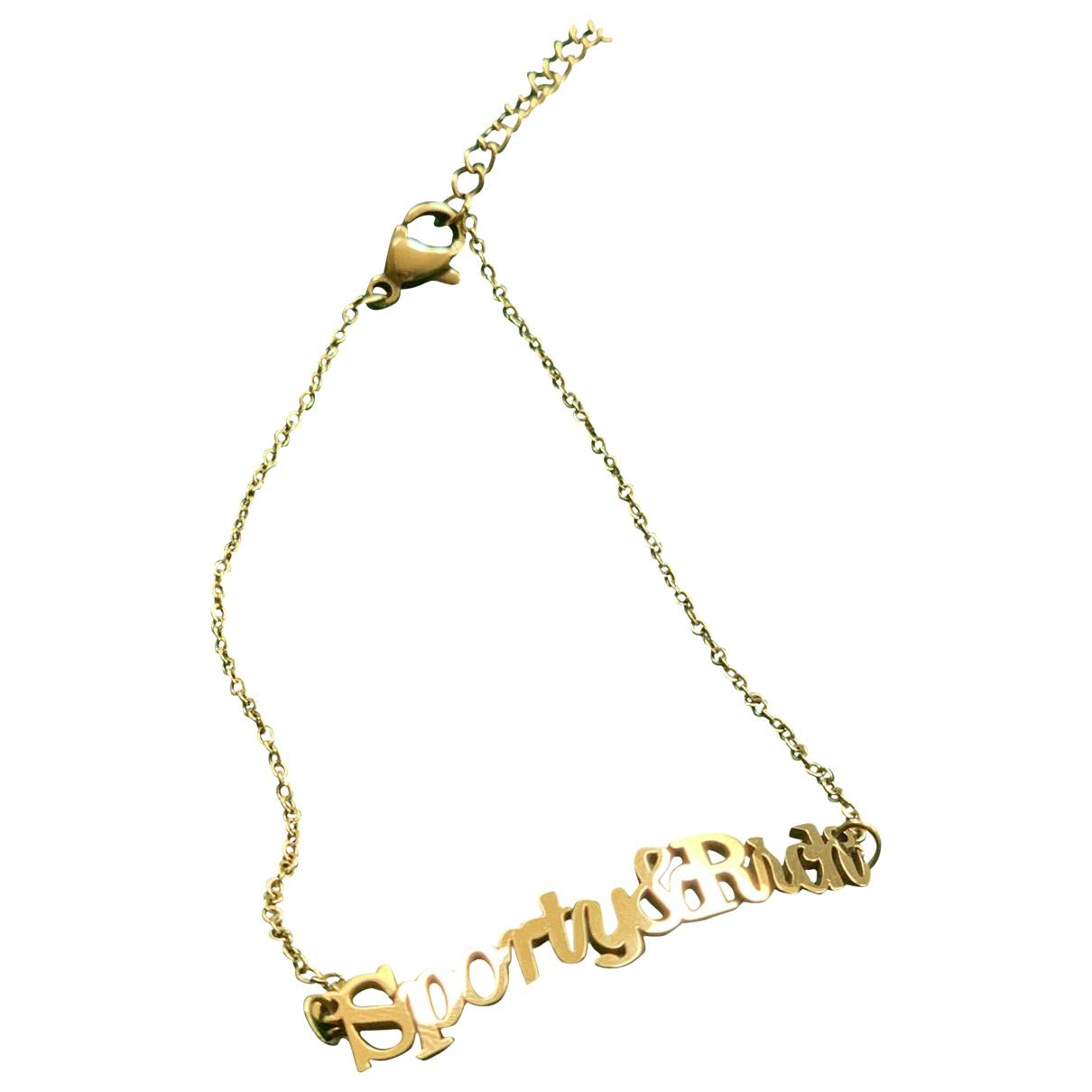 Sporty & Rich - Bracelet   pour femme en plaque or - dore