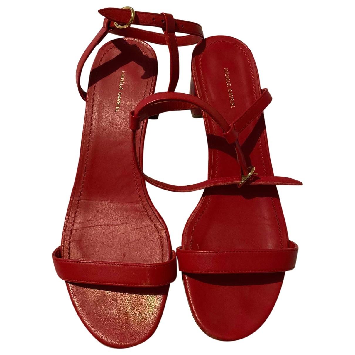 Sandalias de Cuero Mansur Gavriel
