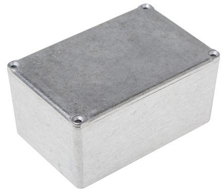 RS PRO Grey Die Cast Aluminium Alloy Enclosure, 120.5 x 80 x 59.2mm