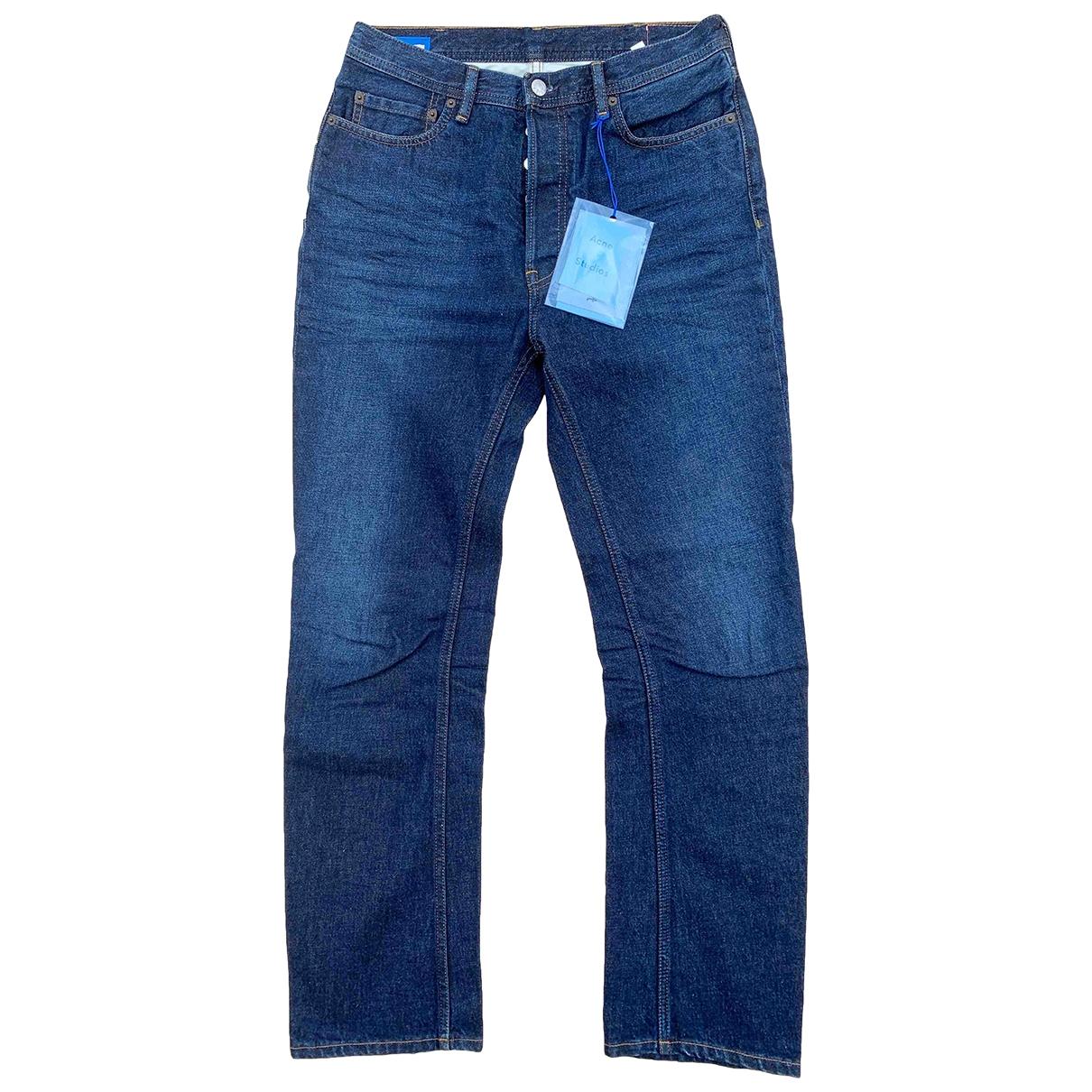 Acne Studios Blå Konst Blue Cotton Jeans for Women 27 US