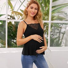 Maternity Cami Top mit Spitzeneinsatz