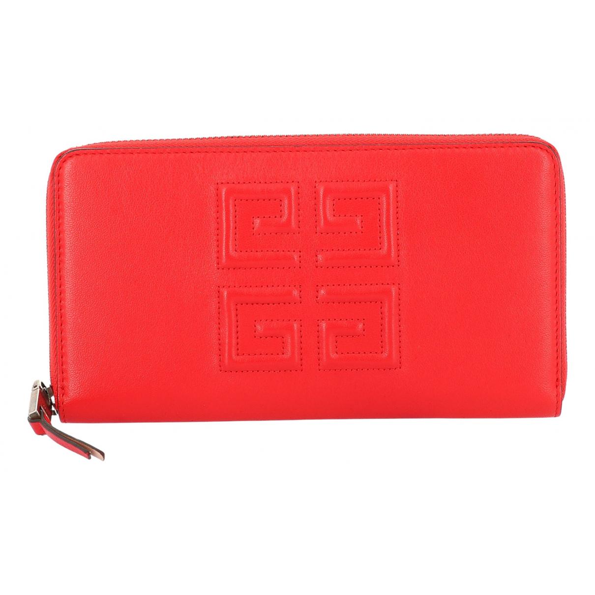 Givenchy - Portefeuille   pour femme en cuir - rouge