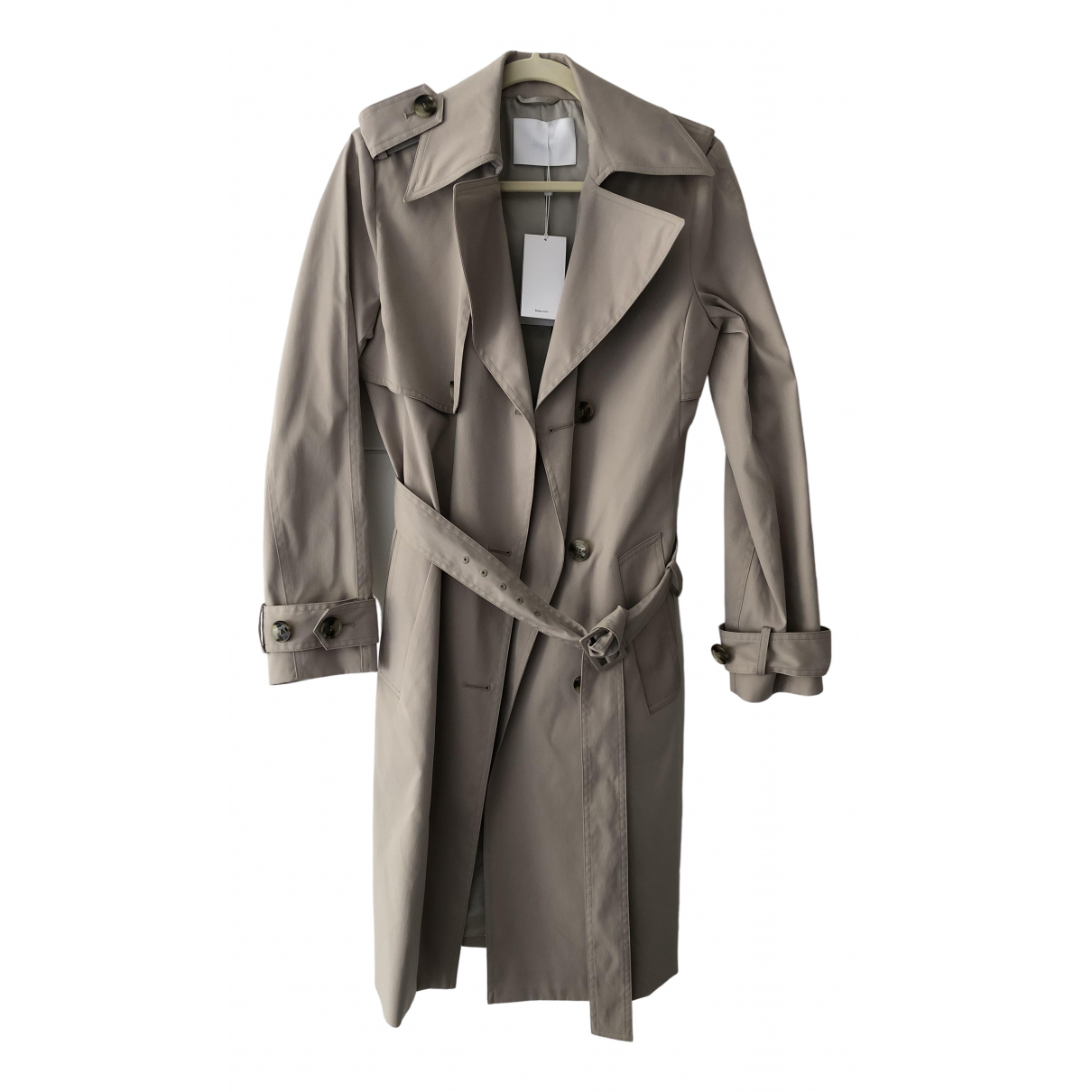 Boss \N Trench in  Beige Baumwolle