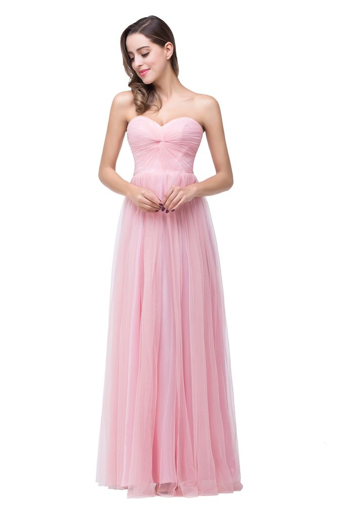 ADRIANNA   A-line Sweetheart Tulle Bridesmaid Dress with Draped