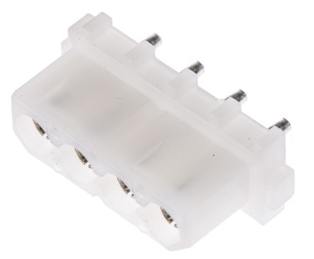 TE Connectivity , Commercial MATE-N-LOK 5.08mm Pitch 4 Way 1 Row Straight PCB Socket, Through Hole, Solder Termination (10)