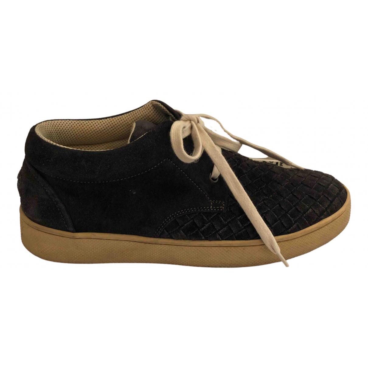 Bottega Veneta \N Sneakers in  Grau Veloursleder
