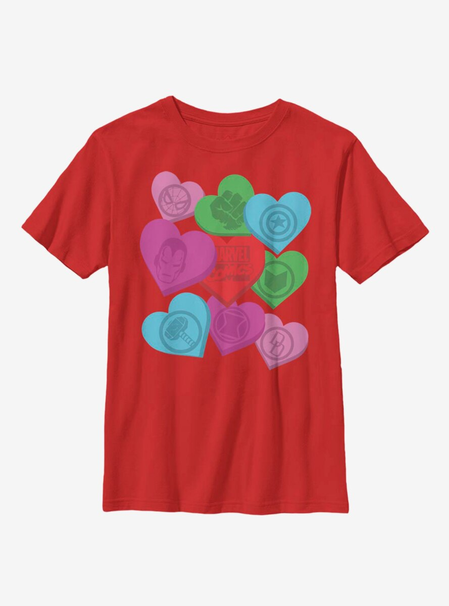 Marvel Avengers Candy Hearts Youth T-Shirt