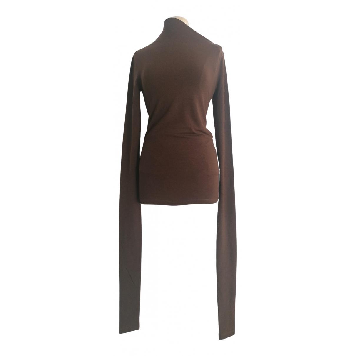 Lemaire - Top   pour femme en laine - marron