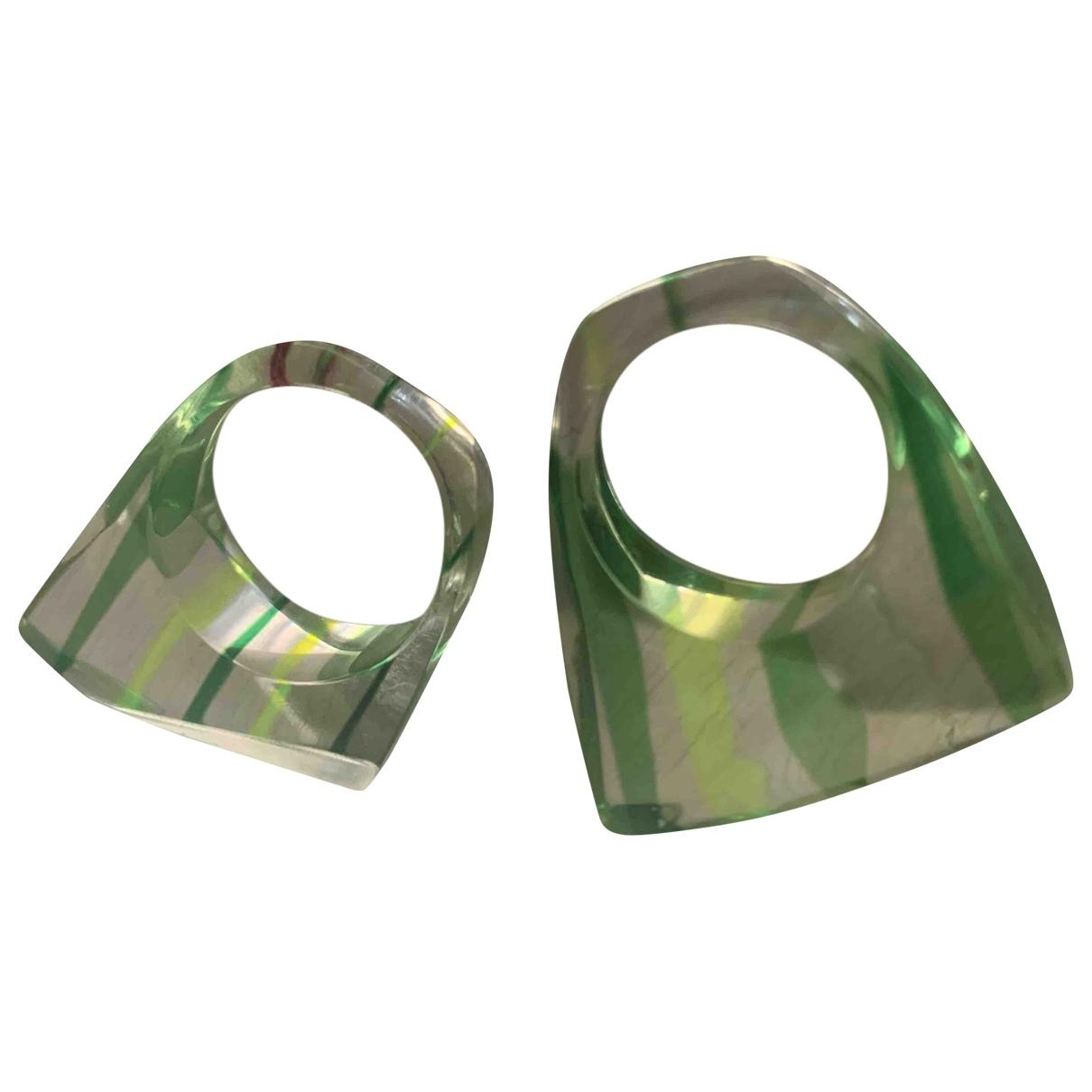 - Bague   pour femme en metal - vert