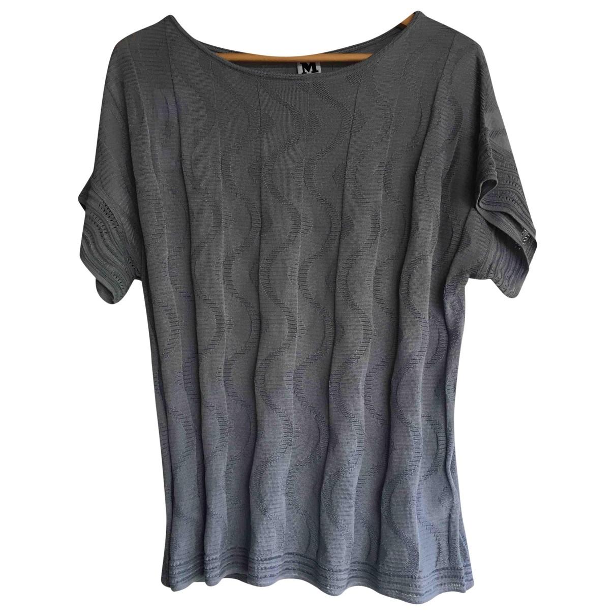 M Missoni - Top   pour femme en coton - gris