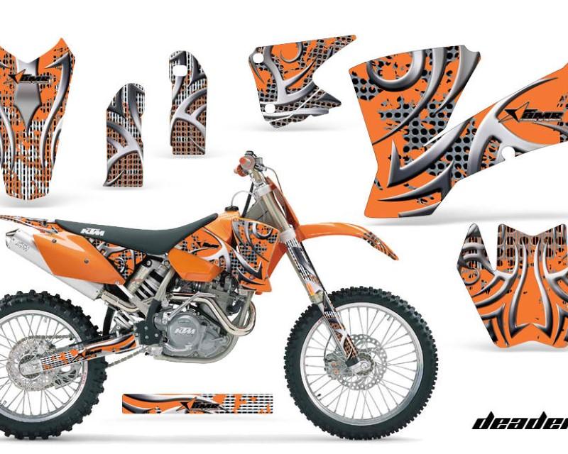 AMR Racing Dirt Bike Graphics Kit Decal Wrap For KTM  SX SXS EXC MXC 2001-2004áDEADEN ORANGE