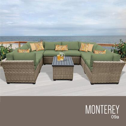 MONTEREY-09a-CILANTRO Monterey 9 Piece Outdoor Wicker Patio Furniture Set 09a with 2 Covers: Beige and
