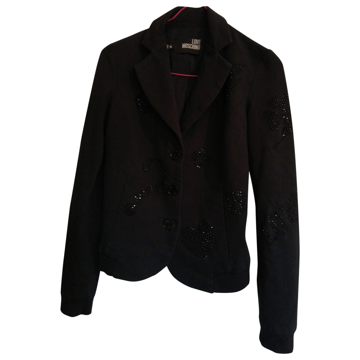 Moschino Love \N Black Cotton jacket for Women 34 FR