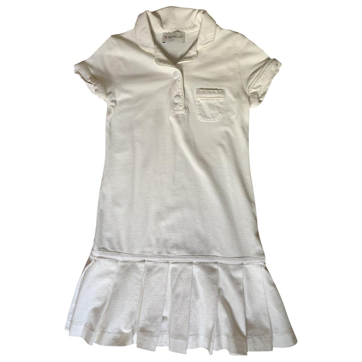 Moncler \N Kleid in  Weiss Baumwolle - Elasthan