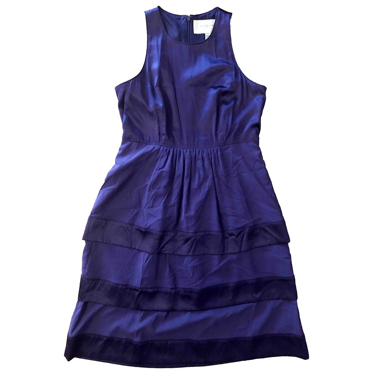 Burberry \N Purple Silk dress for Women 6 UK