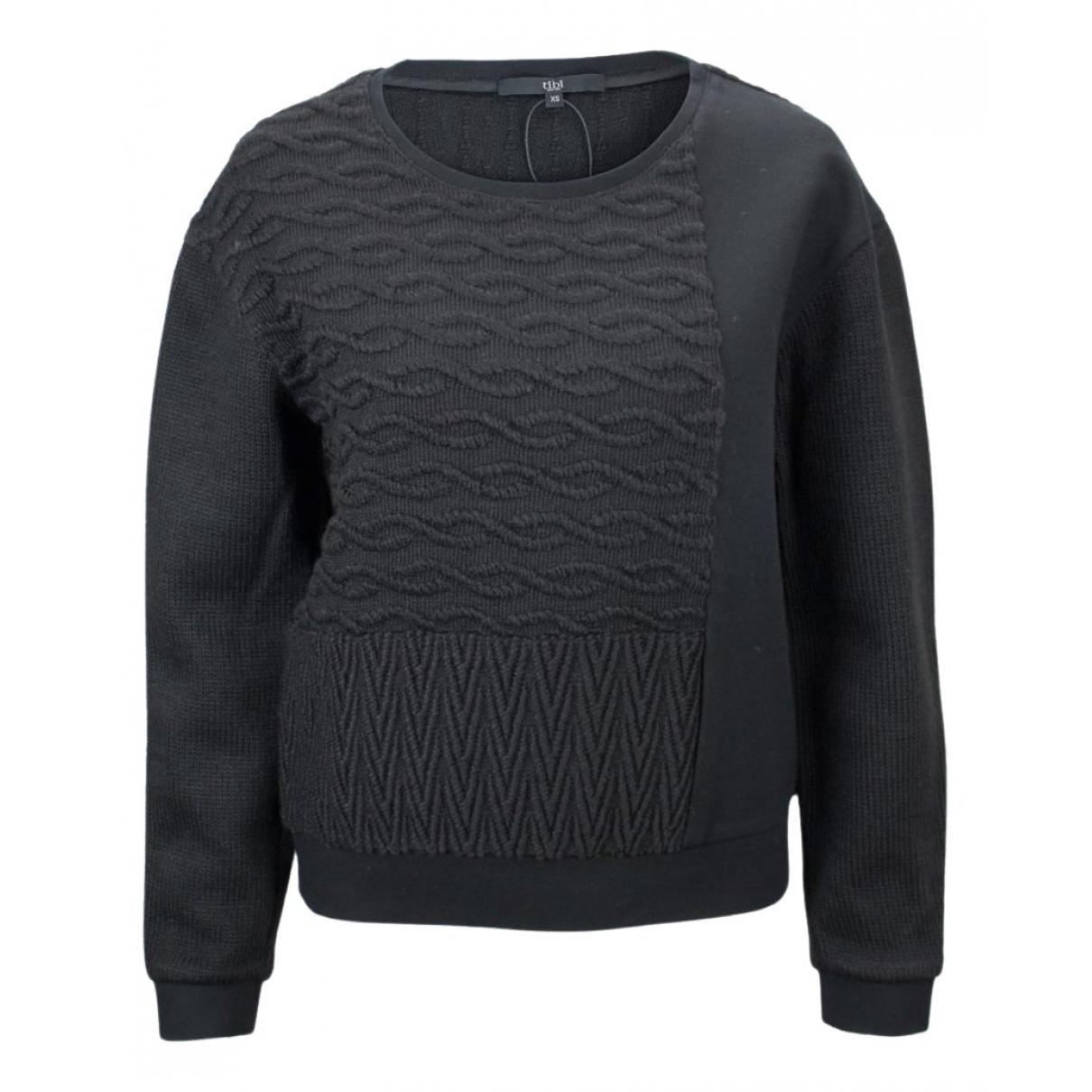 Tibi - Pull   pour femme en laine - noir