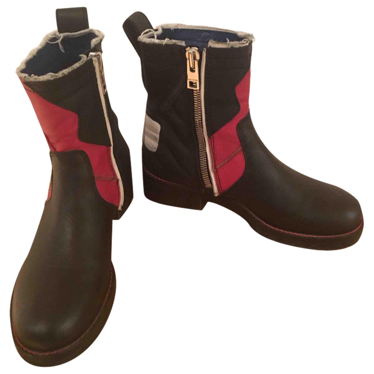 Zadig & Voltaire - Boots   pour femme en cuir - noir