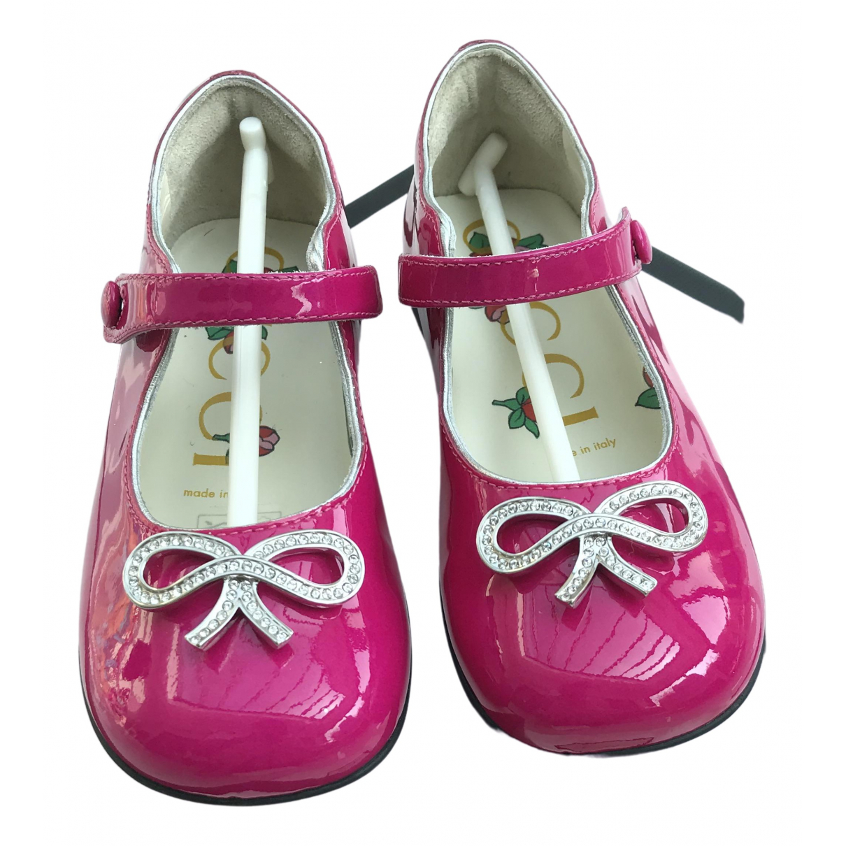 Gucci \N Pink Leather Ballet flats for Kids 24 FR