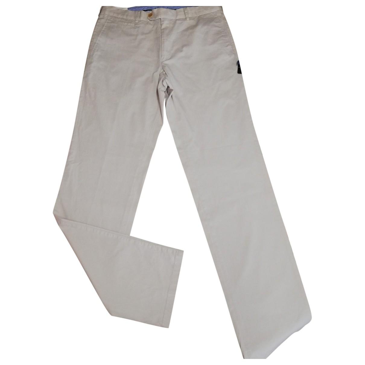 Bugatti \N Beige Cotton Trousers for Men 52 IT